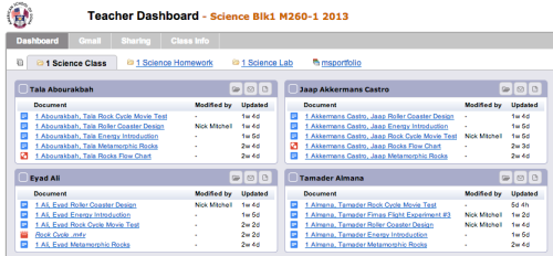 Hapara Teacher Dashboard