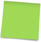 post-it green blank