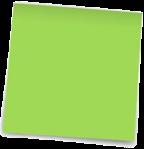post-it green blank