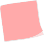 post it pink blank
