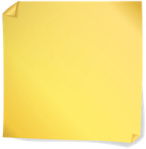 post-it yellow